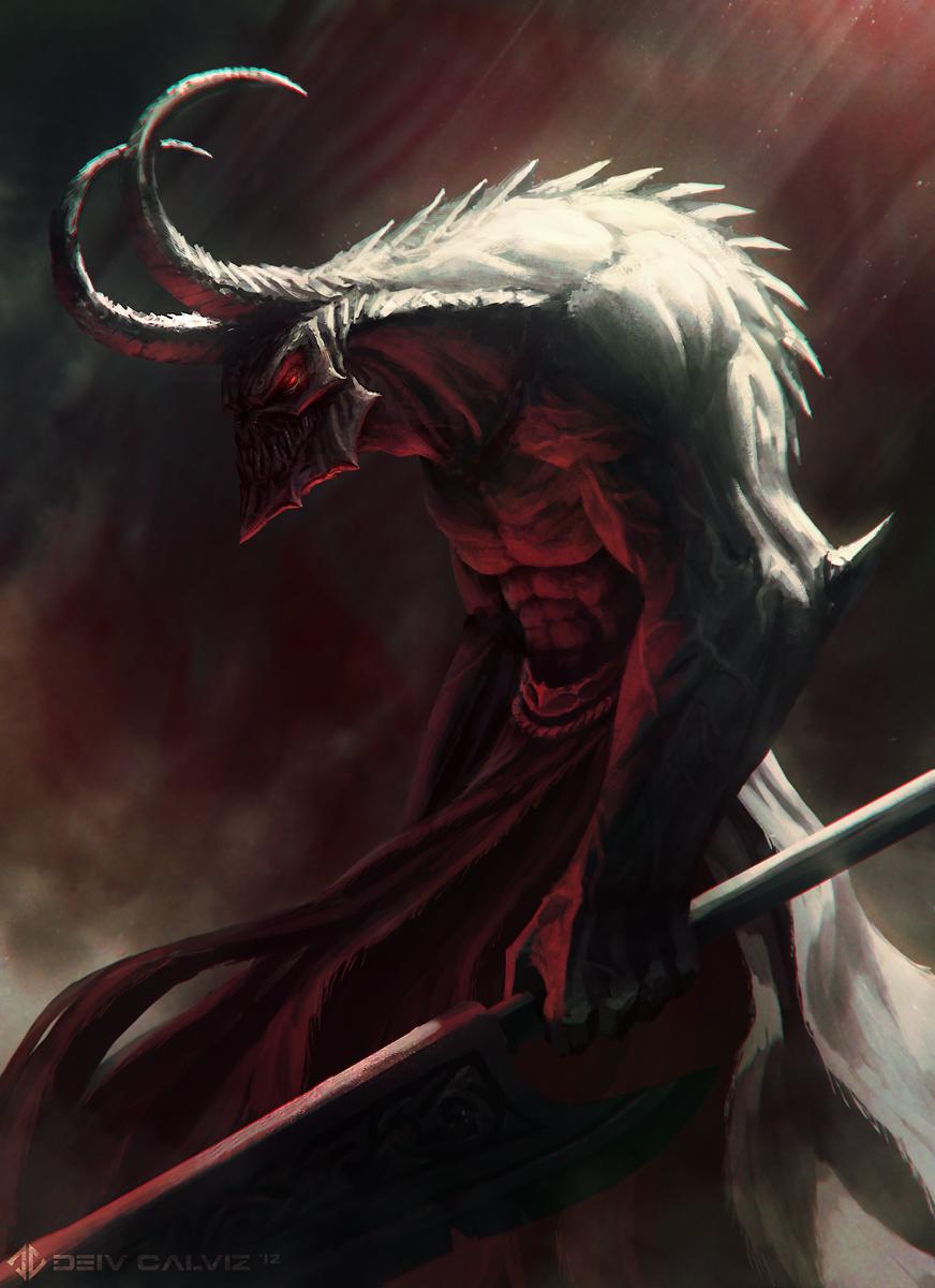 2 Demons And Some Heads Deiv Calviz Illustrations